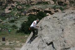 Rock Climbing Photo: Me working on balance on Slant Rock.  4-3-10