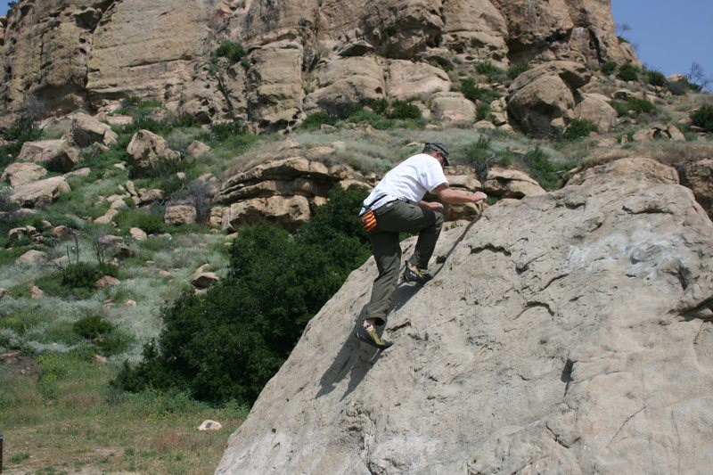 Me working on balance on Slant Rock.  4-3-10