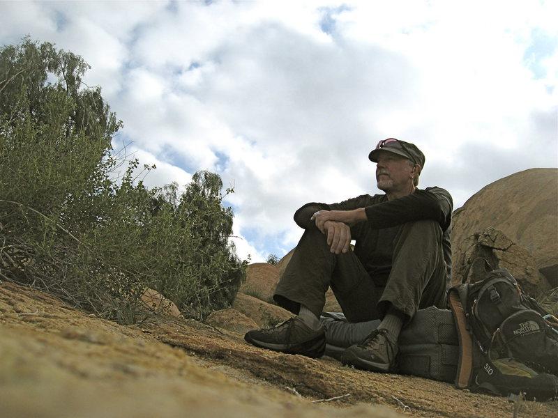 Self Portrait Mount Rubidoux.  4-4-10