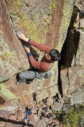 Rock Climbing Photo: Brad Gobright entering the final corner.