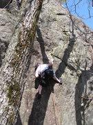 Rock Climbing Photo: My honey doing his thing