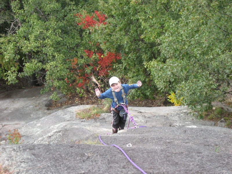 Rock Climbing Photo: My honey's son enjoying the route