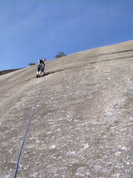Rock Climbing Photo: Second pitch, run-out?
