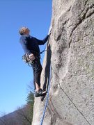 Rock Climbing Photo: Standing on the dyke at the start of the route. Th...
