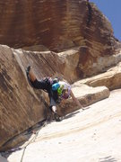 Rock Climbing Photo: Johnny Vegas--5.9 sugar pitch