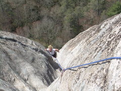 Rock Climbing Photo: Kimberly topping out!