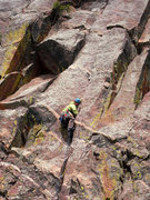 Rock Climbing Photo: Jonny works up the lower section of Xanadu.
