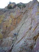 Rock Climbing Photo: Patrick heading on up...