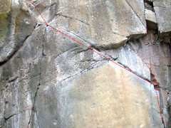 Rock Climbing Photo: Can't see the start in this picture, but as you ca...