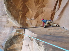 Rock Climbing Photo: Steve Dicesare on Bad Moki Roof Potash rd. Moab. S...