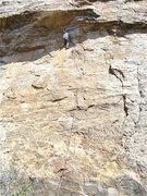 Rock Climbing Photo: Doug working the crux.  The cracks you see down an...