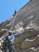 "Rock Climbing Photo: Brad rapping ""Honeymoon"""