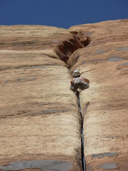 Rock Climbing Photo: Classic Desert Splitter. A Beautiful Line.