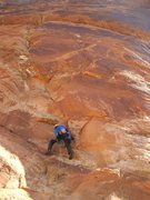 Rock Climbing Photo: Ben starting the 200' P1 5.10
