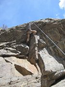Rock Climbing Photo: Victor Tsai on Cracker Jack.  His foot jam was ama...