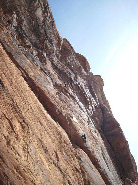 Rock Climbing Photo: Lance following P1