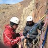 Ben and Lance on P1 belay