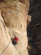 Rock Climbing Photo: Paul on the belay of P3
