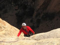 Rock Climbing Photo: Paul staggering to the top!.