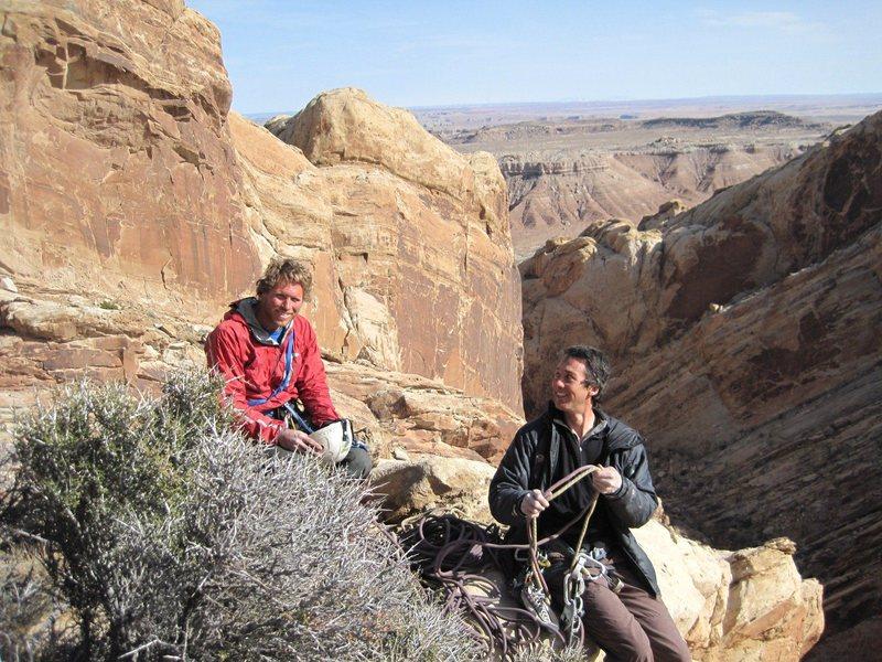 Rock Climbing Photo: Ben and Lance on the summit.