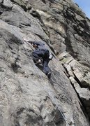 Rock Climbing Photo: Tyson Mao on the first pitch of People's Choice.