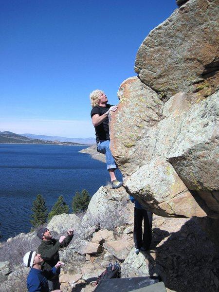 Rock Climbing Photo: Mark Busch and Carter Lake.