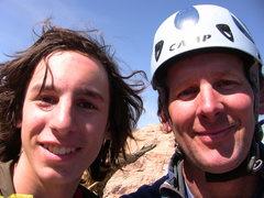 Rock Climbing Photo: Summit shot of Dad and I.