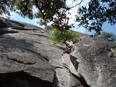 Rock Climbing Photo: starting up Nutcracker, Manure Pile Buttress, Yose...