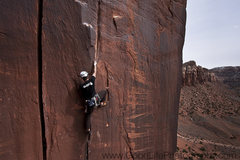 Rock Climbing Photo: Damien leading Mantel Illness for his first time, ...