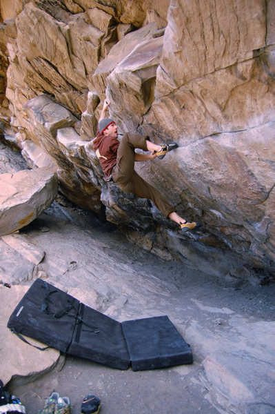Rock Climbing Photo: Me nearing the end of Air Jordan.