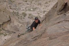 Rock Climbing Photo: Abel finishing up Wiggly