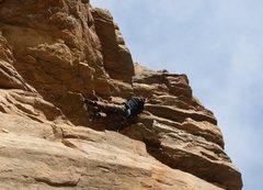 Rock Climbing Photo: T-bone Tod Bol on a low-gravity day, gracing his w...