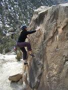 Rock Climbing Photo: Susan sends the South Slab.