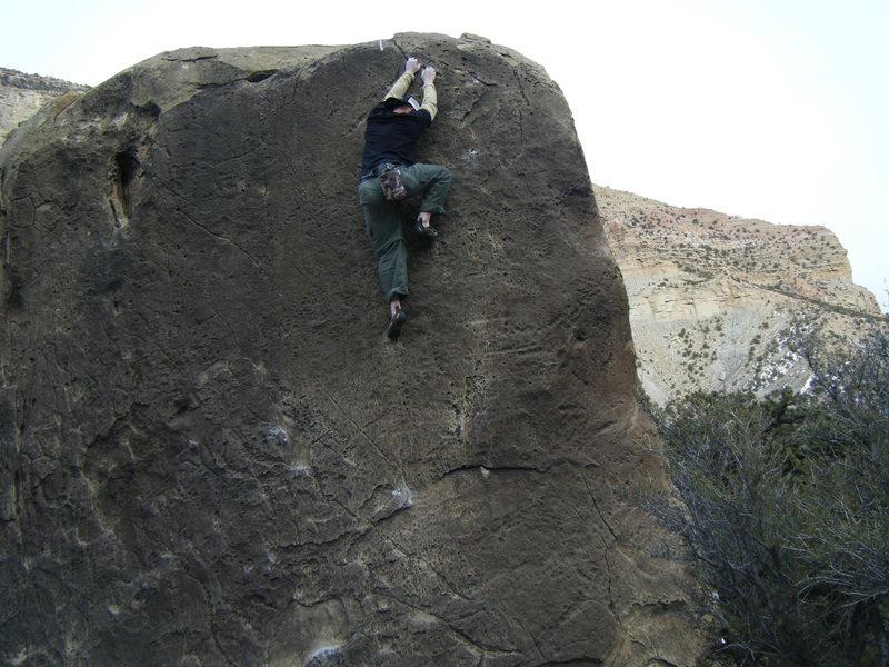 Rock Climbing Photo: Finishing up, way up, on Michelangelo.