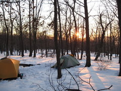 Rock Climbing Photo: Campsite while climbing at the Delaware Water Gap ...