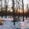 Campsite while climbing at the Delaware Water Gap this past Winter.