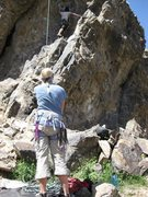 Rock Climbing Photo: Lead originally, then top roped to clean anchors. ...