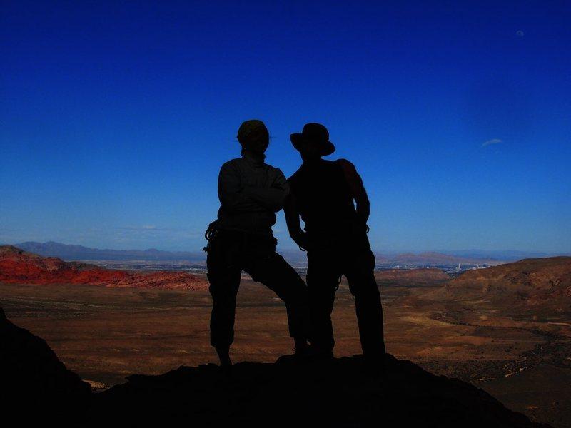 Rock Climbing Photo: Young Guns above Vegas...