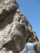 Rock Climbing Photo: That third bolt is absolutely the crux. Once you c...