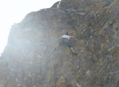Rock Climbing Photo: About as high as we got... the complete lack of ch...