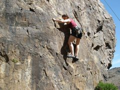 Rock Climbing Photo: Opening moves on Jug Haul