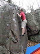 Rock Climbing Photo: Chris warming up.