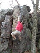 Rock Climbing Photo: Chris working 'Venus Rising'