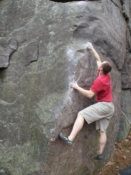 Rock Climbing Photo: Chris on 'Sex and Chocolate,' wondering where the ...