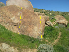 Rock Climbing Photo: Side Trail boulder 2. Trail side boulder is in the...