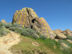 Rock Climbing Photo: Boulder 4 just over the hill to the south from bou...