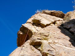 Rock Climbing Photo: Anna Topping out after my lead of Little Rubber Du...