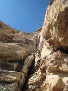 Rock Climbing Photo: Dave starts up the first pitch of Purblind Pillar.