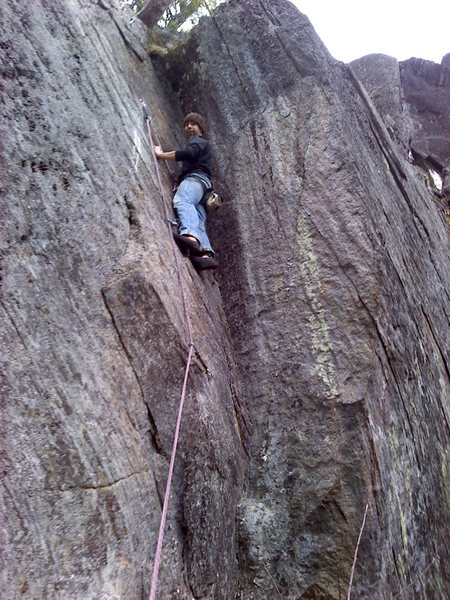 Rock Climbing Photo: Jakob on our new route Trundle Love