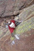 Rock Climbing Photo: Joe Mills on his Flash of Superfly! Yeah!